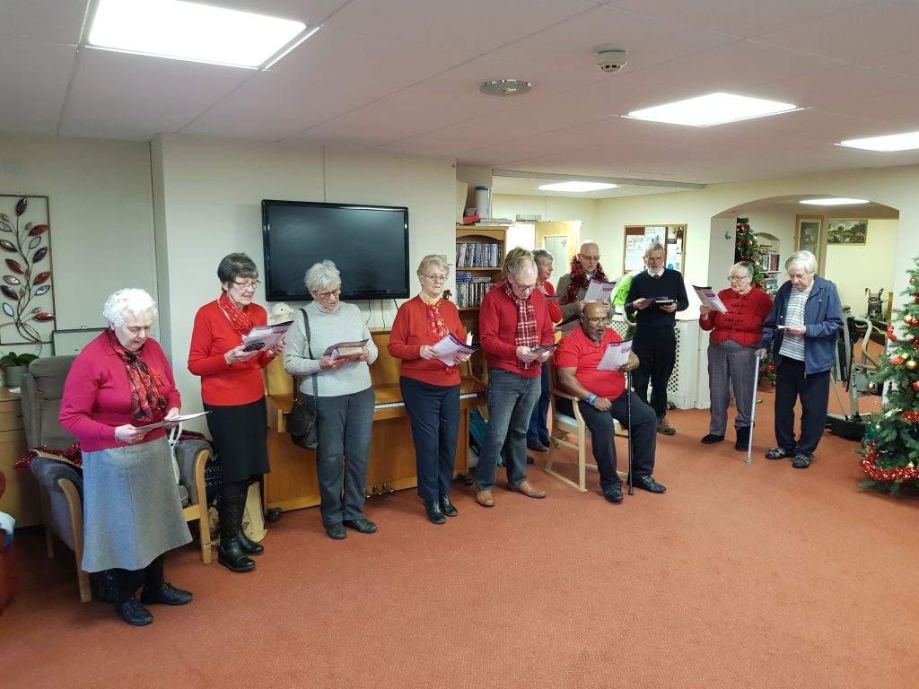 Carol singing care homes